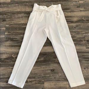 Zara Paper-bag Waist Pants